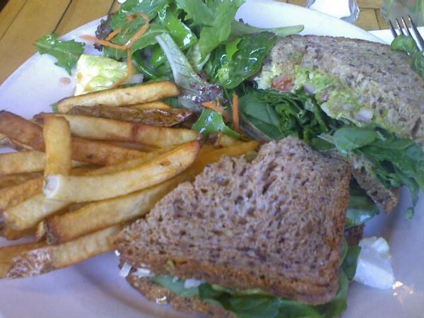 Maggie Brown's avocado panini