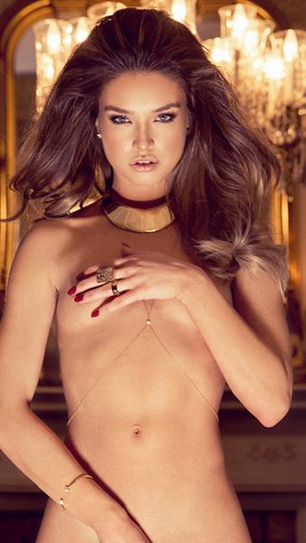 #iPhone5 #Wallpaper #PlayBoy #Model Brittany Brousseau #Boobs #NoBraDay #HandBra #ArmBra