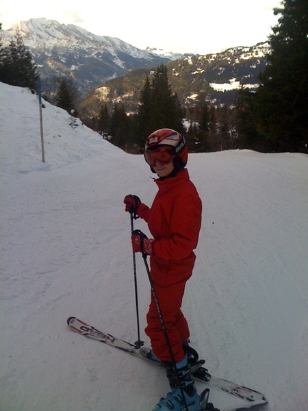 On the slopes!