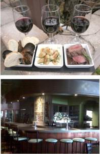 Al Dente restaurant, Brantford. Good food. Very reasonable markup on wines! Popular dining location.