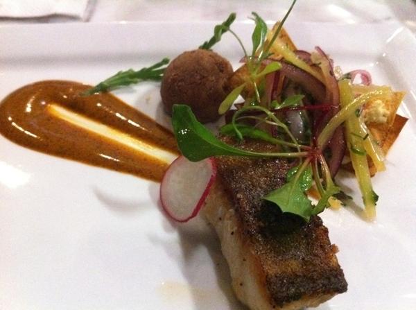 Hi-lites of Baja TV Scout: in Tijuana @ Cielo: modern comida corrida featuring crispy blue cod w flavors of birria
