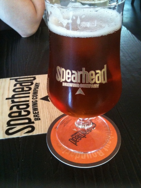 Now at @GriffinGastro having a @SpearheadBeer HSPA #cdncraftbeer