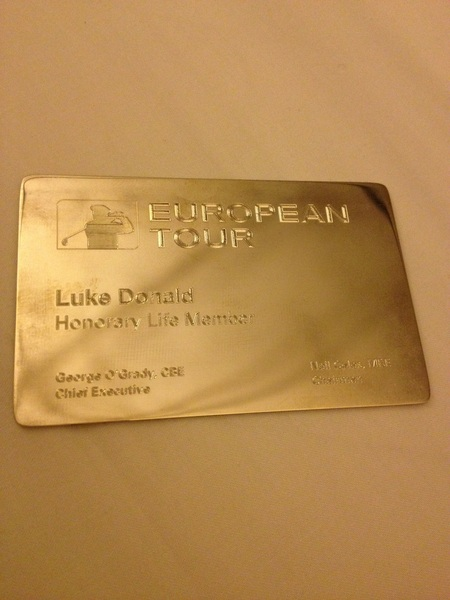 Truly humbled to be presented with European Tour Honorary Life Membership today. This thing is sweeeeeeeeeeeeet!