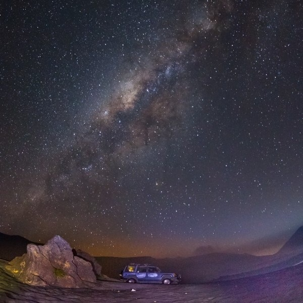 Milky Way In Bromo