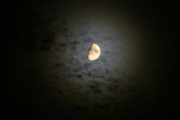 kring om de maan vanavond  #buienradar