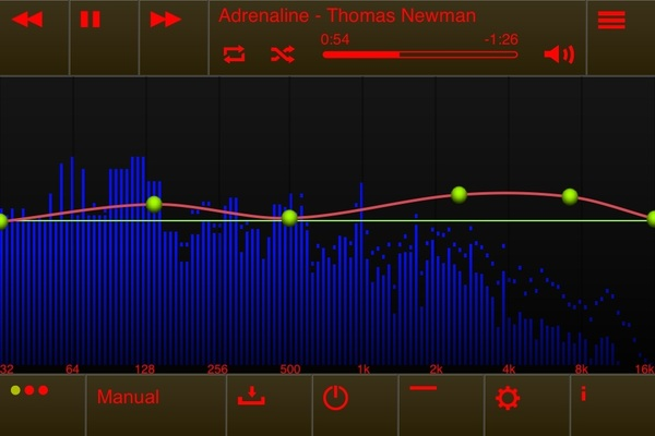 My fix to that disturbing freq response on the @HiddenRadio. Thanks to @elephantcandy's #EQu app! #preset #sound