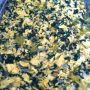 Roberto Solis Progreso bfast: eggs scrambled w Chaya greens. Served w kut (roasted habanero salsa)