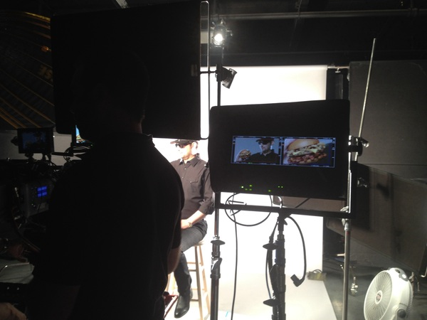 PIC: cool pic from the set of my National Television Commercial shoot for Carl's Jr this morning in LA...