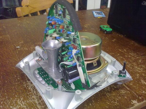 Just cracked open a JBL Creature Speaker - fascinating design!