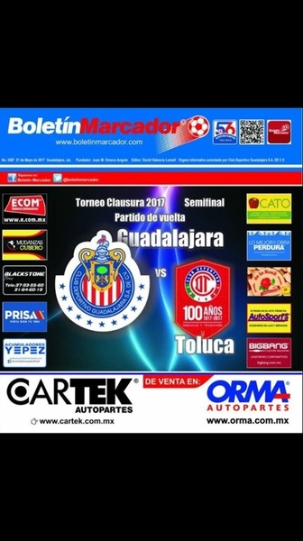 BM DIGITAL (@Chivas vs. @TolucaFC) https://www.facebook.com/BMarcador/posts/10155350006837138 @NissanGDL