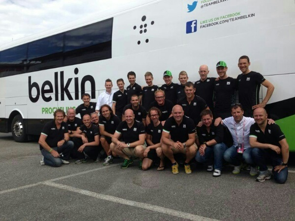Thanks everyone @TeamBelkin!!! #giro