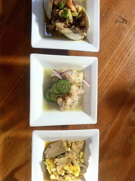 Ultramarinos in Ensenada: 10 local micro brews on tap, gr8 bar food: ceviches: sea snail. Scallop, clam/octopus