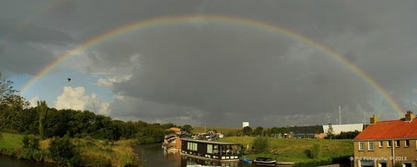 een mooie regenboog van morgenvroeg in Harlingen #buienradar