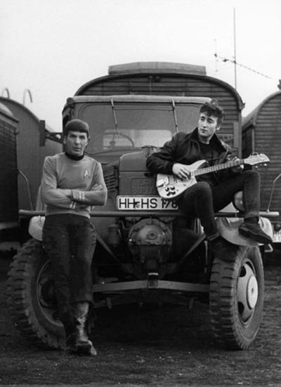 One could write a piece about #postmodernism with this image. #spock #JohnLennon