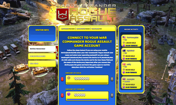War Commander Rogue Assault Hack 2018 Android/iOS [Download Free] Triche [US]