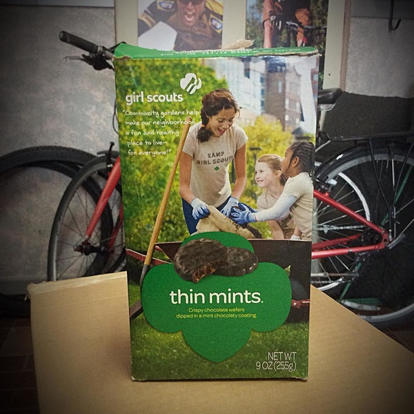 Look what came in our shipment yesterday from one of our suppliers in the U.S. #girlscoutcookies #bikeshop #northerncycle
