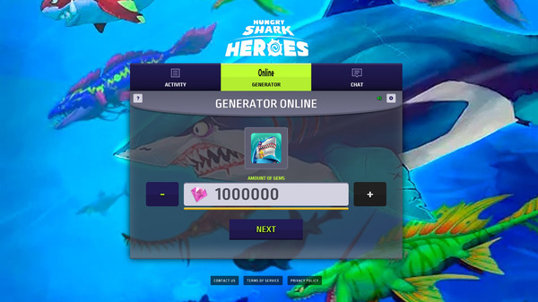 Hungry Shark Heroes Hack Mod Gems and Gold Unlimited by