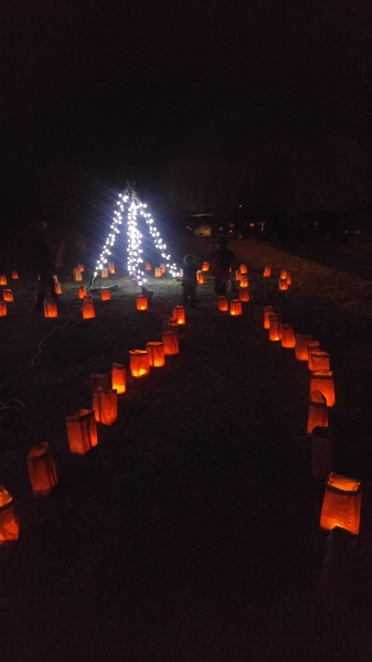 Holiday magic. #notforkidsonly #farolitos #luminaria #taos #nm