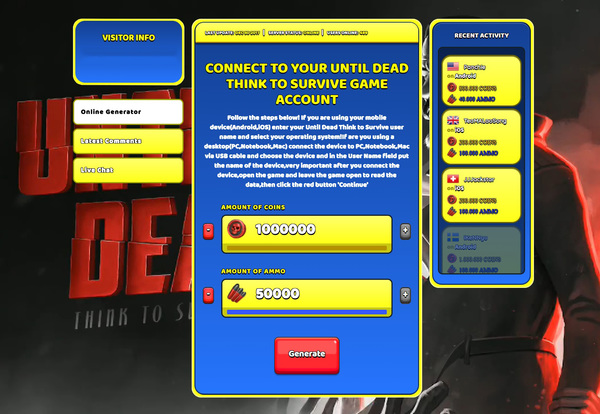 Until Dead Think to Survive Hack Cheat Generator Coins and Ammo Unlimited