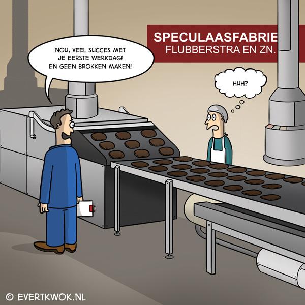 Geen brokken maken! #cartoon #speculaas