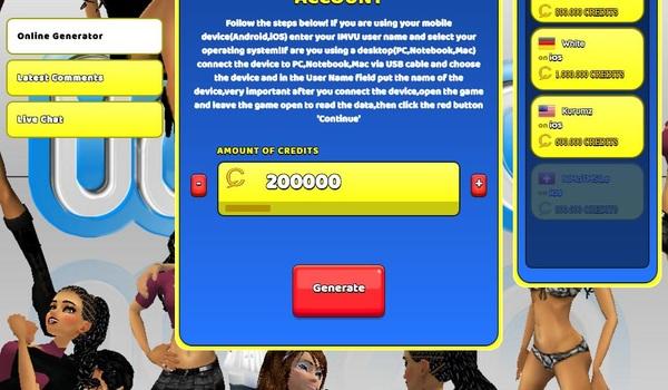 IMVU Hack Cheat Generator – Get Credits Unlimited