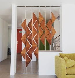Contemporary 3D wooden blinds and room divider