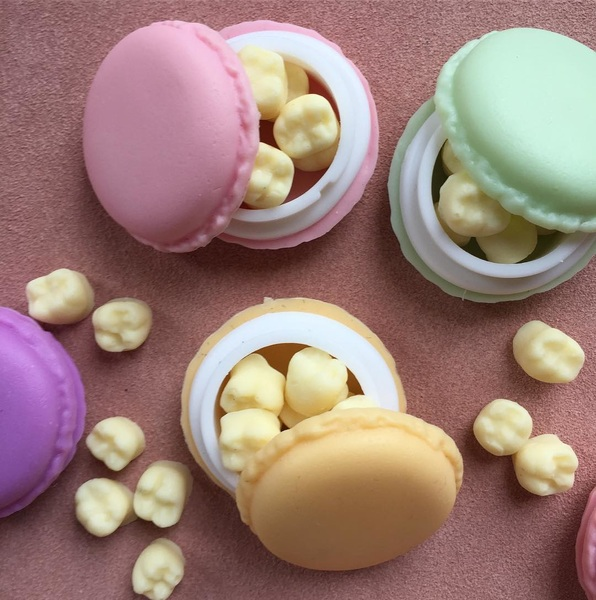 No kids? No problem! We got you covered with our fine white chocolate molars in a macaroon shaped trinket box. Now available though our Kickstarter, link in bio. Or send us a dm.