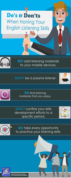 Dos and Don'ts When Honing Your English Listening Skills