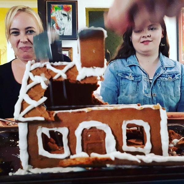 Smash it #gingerbread #house #Christmas