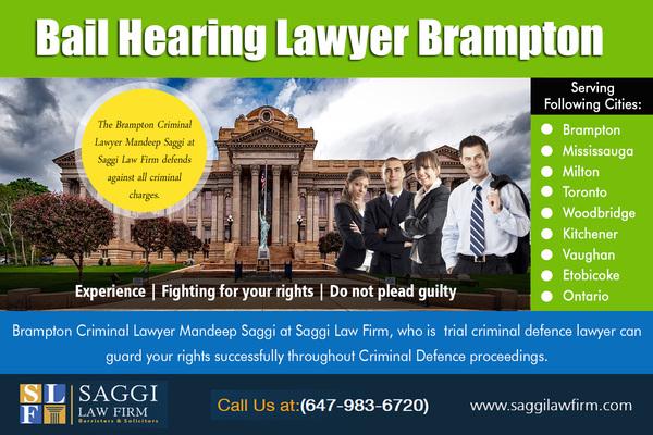 Bail Hearing Lawyer Brampton