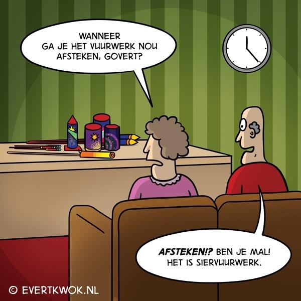 Fijne jaarwisseling! #cartoon