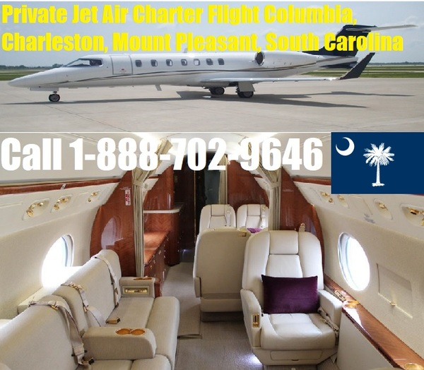 Private Plane Jet Charter Flight Service Columbia, Mount Pleasant, Charleston, Rock Hill SC