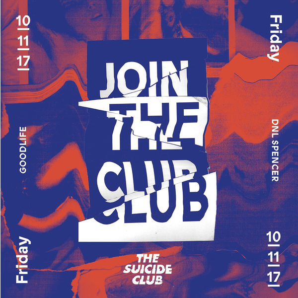 For the ones that adore the night, this weekend at the suicide club.