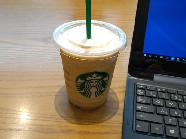 コーヒーフラペチーノ。初体験。