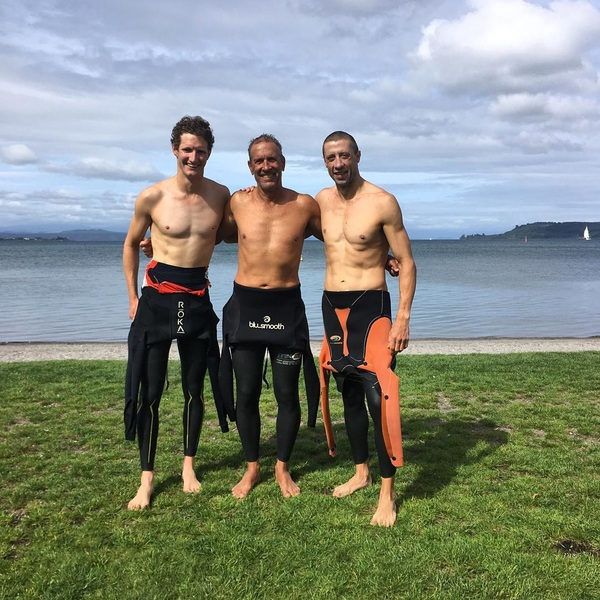 Testing the fresh waters of Lake Taupo. Almost time for #IM703NZ and #IMNZ