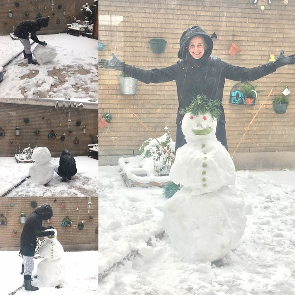 I HAD to do this!! ⛄ 😆 #snowman #snowfun #stillakid