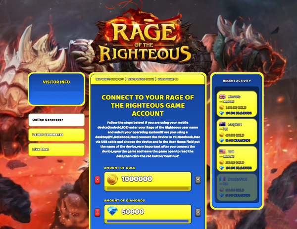 Rage of the Righteous Hack Cheats Generator Gold and Dimonds Unlimited