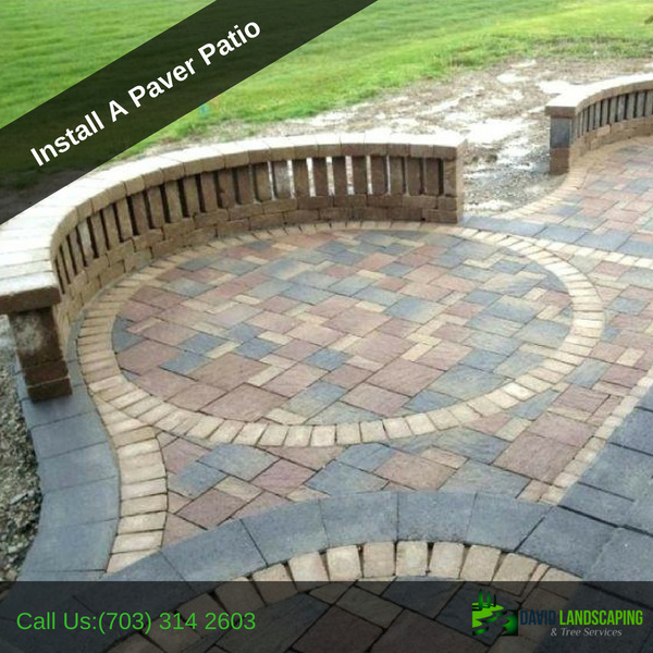 Get a bright view of Install a paver patio Springfield VA