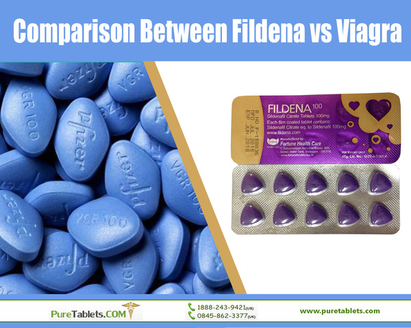 Comparison Between Fildena vs Viagra