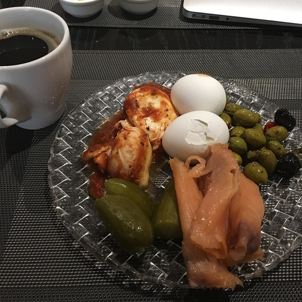 Breakfast is a bit of rarity for me these days, but I have to have it at least once while I'm Israel.