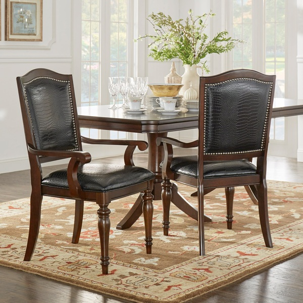 Faux Crocodile Leather Dining Side Chair