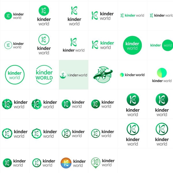 brainstorming about the ' Kinder World ' logo... which one do you prefer? The platform will be the 'Vice of doing good', bringing daily innovations in the field of charitable organisations.