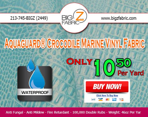 Waterproof Crocodile Vinyl Fabric