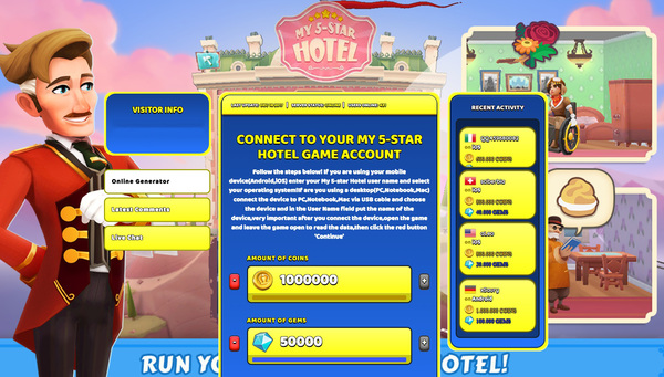 My 5-star Hotel Hack Cheat Generator Coins and Gems Unlimited