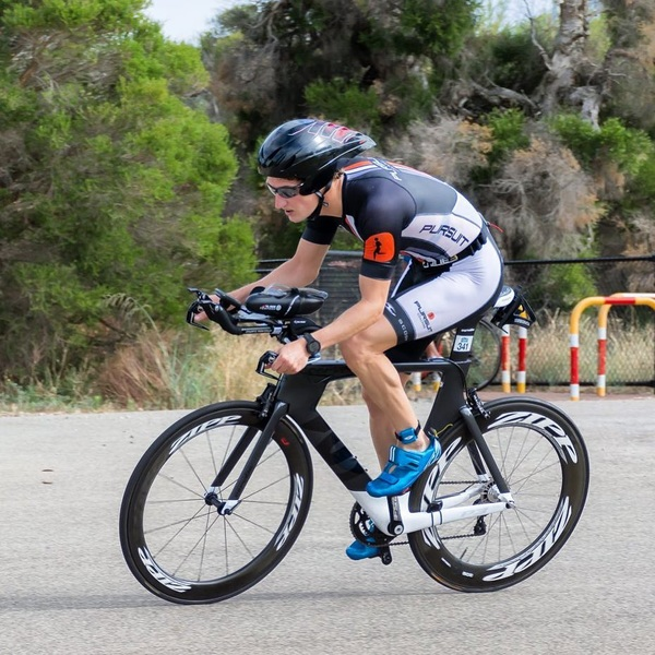 Loving this shot of #MyCervelo and me in yesterday's race. Thanks @focused_ninja_photography!