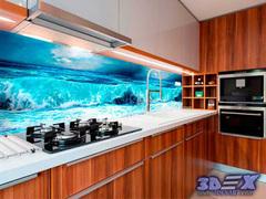 3D backsplash panel - the best solution for kitchen
