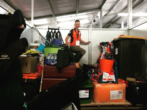 Preparing for 'Florence' 🌪💨 Equipment as high as possible, horses' babysitters tonight are teamvet @brendahoogelander and Marleen and rest is evacuated to safe hotels. Now all we can do is wait and see 🙏🏻