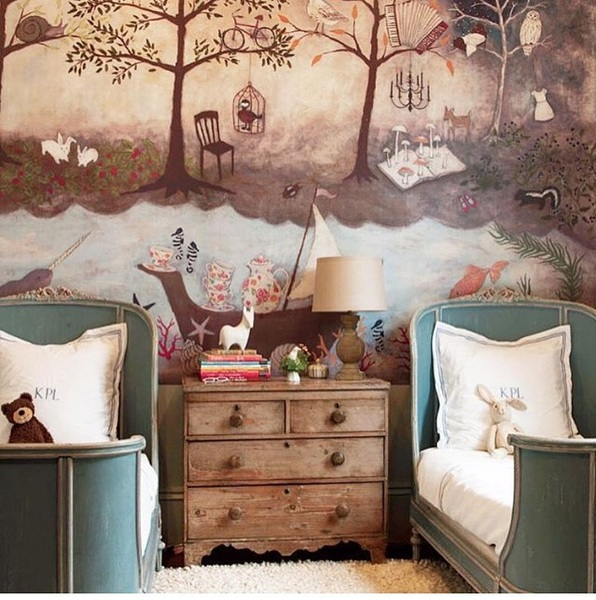 This kids room! Magical. An invitation to dream. #toothtales #childhood #memories