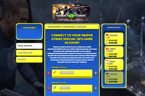 Sniper Strike Special Ops Hack Cheat