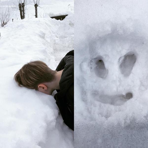 snow face #snowangel #mikarules